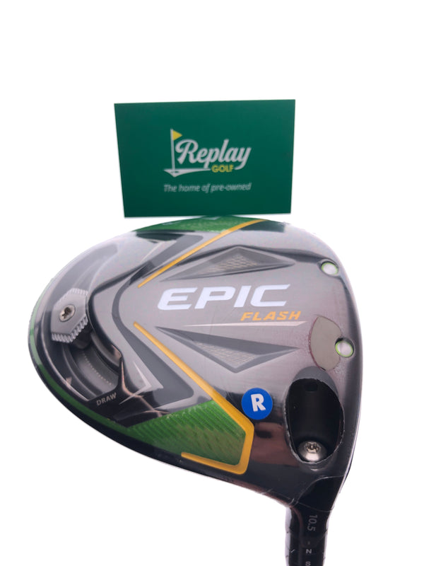 NEW Callaway EPIC Flash Driver / 10.5 Degrees / Tensei Blue AV Series Regular Flex - Replay Golf