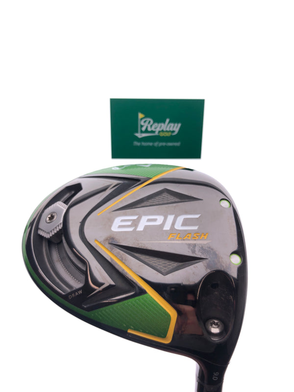 Callaway EPIC Flash Driver / 9.0 Degrees / Project X Even Flow 6.0 Stiff Flex - Replay Golf