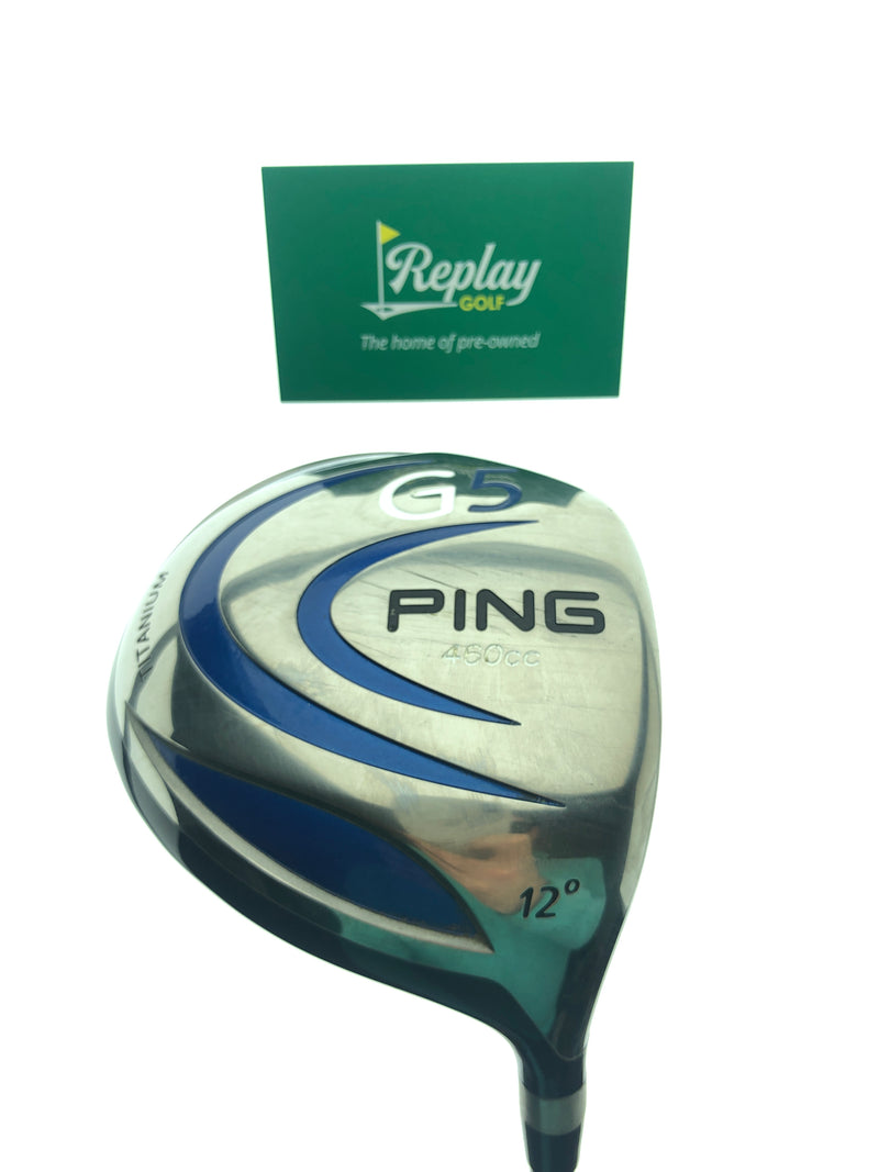 Ping G5 Driver / 12.0 Degrees / Ping TFC 100D Regular Flex - Replay Golf