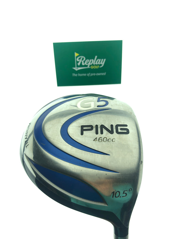 Ping G5 Driver / 10.0 Degrees / Grafalloy Pro Launch Blue Regular Flex - Replay Golf