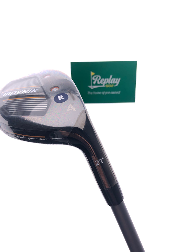 NEW Callaway Mavrik Max 4 Hybrid / 21 Degrees / Project X Catalyst Regular Flex - Replay Golf