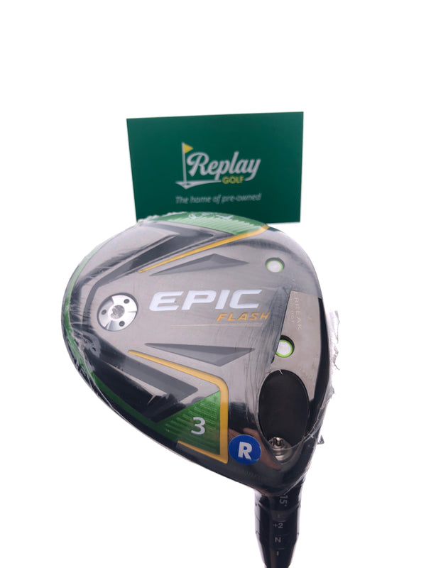 Callaway EPIC Flash 3 Fairway Wood / 15 Degrees / Tensei AV Series 75 Regular Flex - Replay Golf