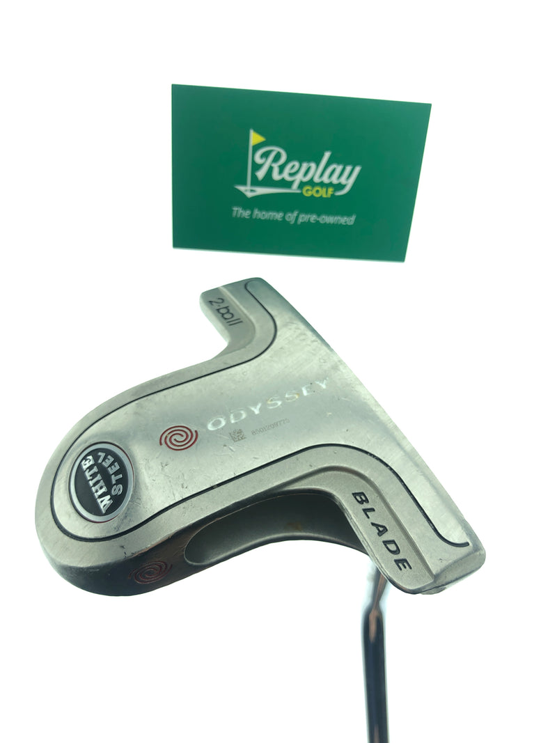 Odyssey White Steel 2-Ball Blade Putter / 34 Inch - Replay Golf