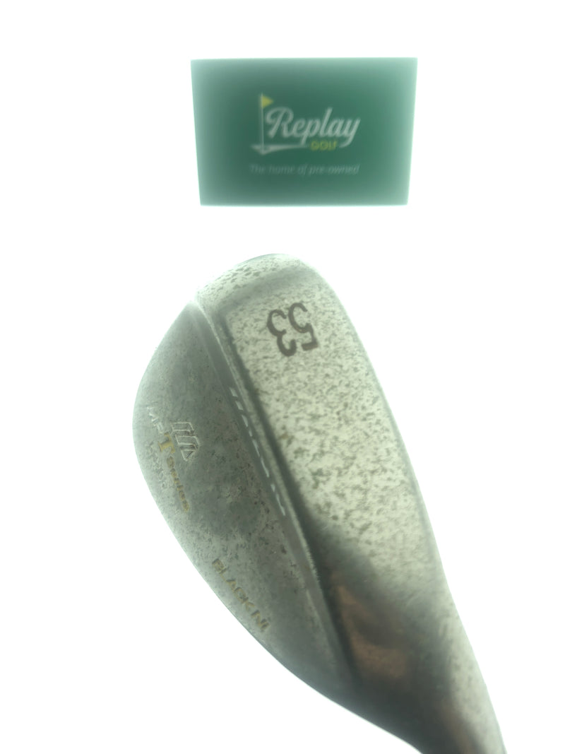 Mizuno MP-T Black Nickel Gap Wedge / 53.0 Degrees / S300 Stiff Flex - Replay Golf