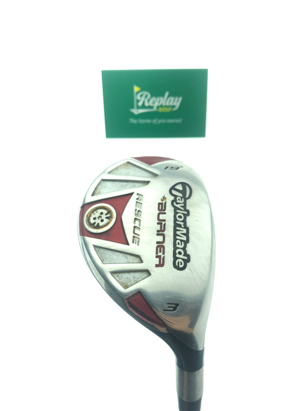 TaylorMade Burner Rescue 3 Hybrid / 19 Degrees / REAX 65 Stiff Flex - Replay Golf