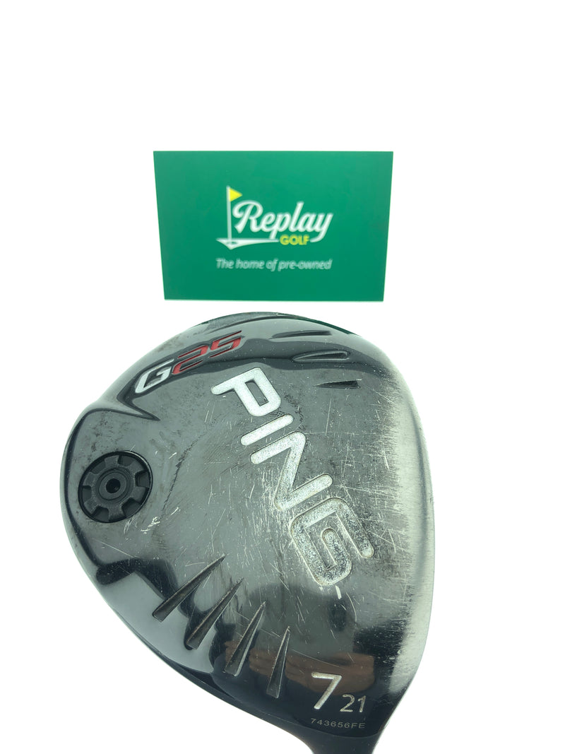Ping G25 7 Fairway Wood / 21 Degrees / Aldila RIP Phenom 80 TX Flex - Replay Golf