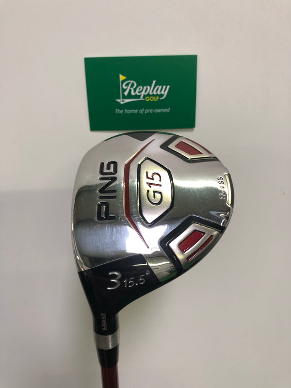 Ping G15 #3 Wood / 15.5 Degree / Ping TFC Soft Regular Flex / Seniors / LEFT Hand