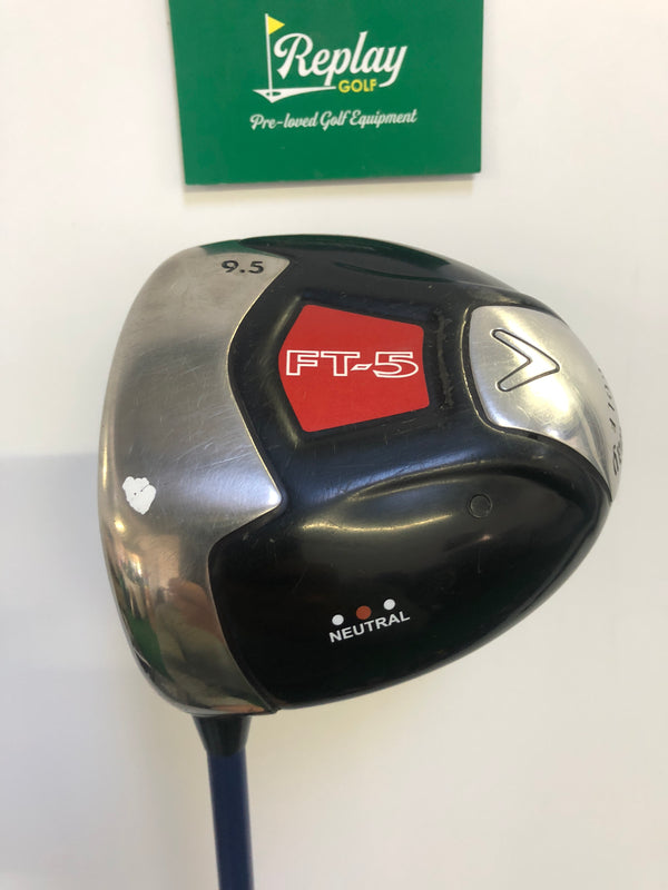 Callaway FT-5 Neutral Driver / 9.5 Degree / Mitsubishi Javln FX Stiff Flex / LEFT Hand