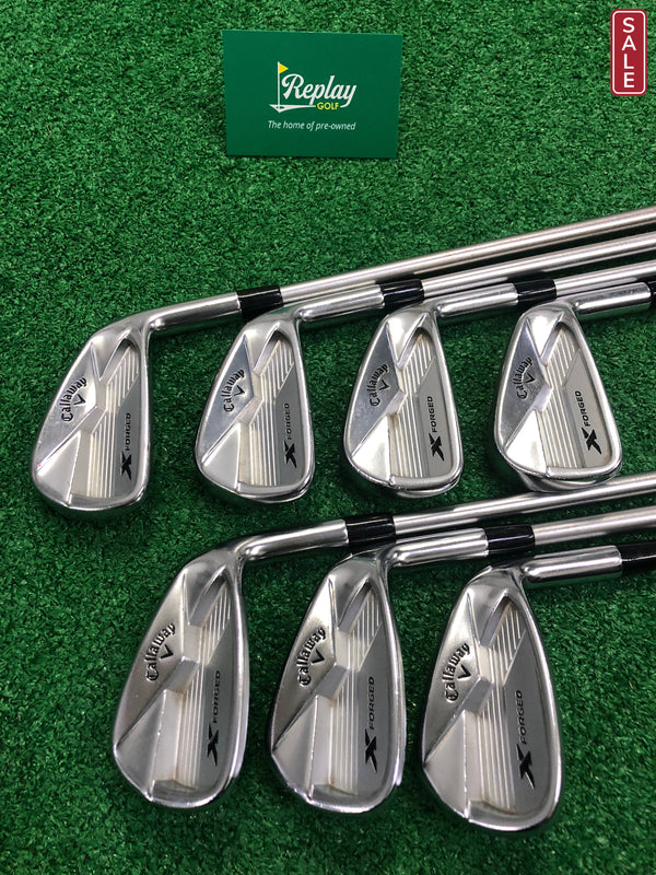 Callaway X Forged 18 Irons / 4-PW / KBS Tour C-Taper 130 X-Flex / Right Handed - Replay Golf