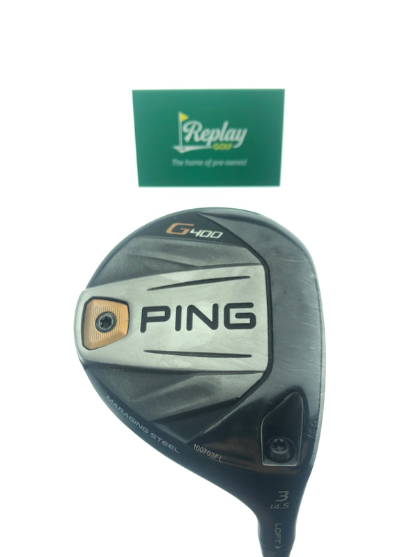 Ping G400 3 Fairway Wood / 14.5 Degrees / Ping Tour Chrome 75 Stiff Flex