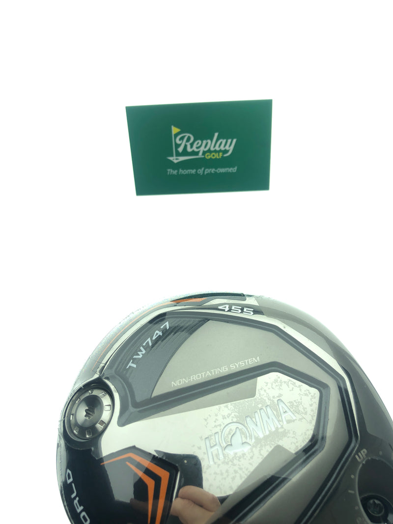 Honma TW747 455 Driver / 9.5 Degrees / Vizard Red FD-6S Stiff Flex - Replay Golf