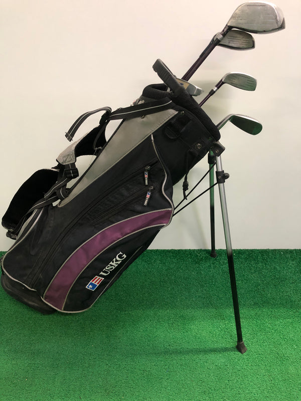 US Kids 54 Inch Purple Junior Set / 5 Club Set + Stand Bag / Right Handed - Replay Golf