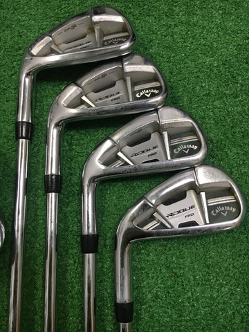 Callaway Rogue Pro Irons / 4-PW+GW / Dynamic Gold XP 95 Regular / LEFT HAND - Replay Golf