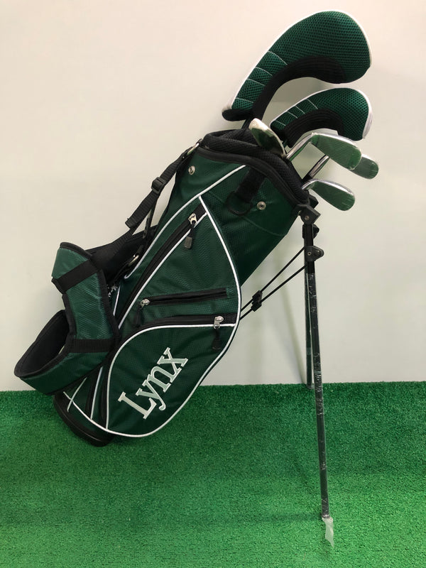 NEW Lynx Green Package Junior Set / 43cm - 51cm (Age 5 - 7) / 6 Clubs + Bag - Replay Golf