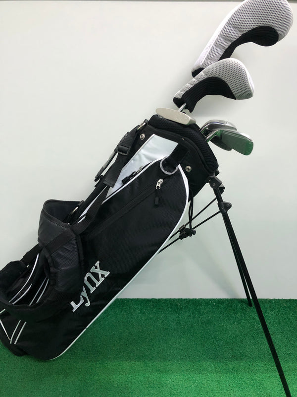 NEW Lynx Silver Package Junior Set / Age 11-14 / 6 Clubs + Bag - Replay Golf