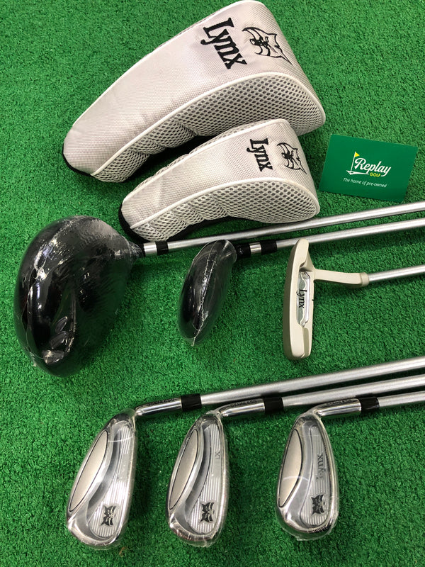 NEW Lynx Silver Package Junior Set / Age 11-14 / 6 Clubs / NO BAG - Replay Golf