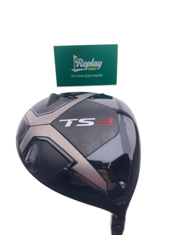 Titleist TS3 Driver / 9.5 Degrees / Project X HZRDUS Smoke 6.0 Stiff Flex - Replay Golf