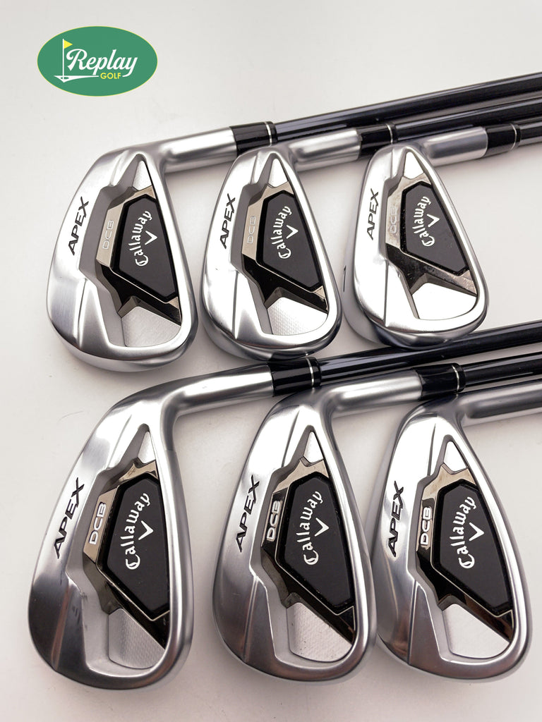 Callaway Apex DCB 21 Iron Set / 5-PW / UST Recoil Dart F3 65 Regular Flex - Replay Golf