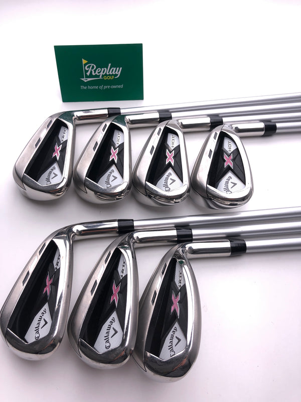 Callaway 2013 X Hot Womens Iron Set / 5 - SW / Callaway XHOT 50g Ladies Flex - Replay Golf