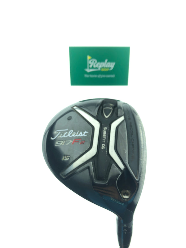 Titleist 917 F2 3 Fairway Wood / 15 Degrees / Diamana x5ct 60 Regular Flex - Replay Golf