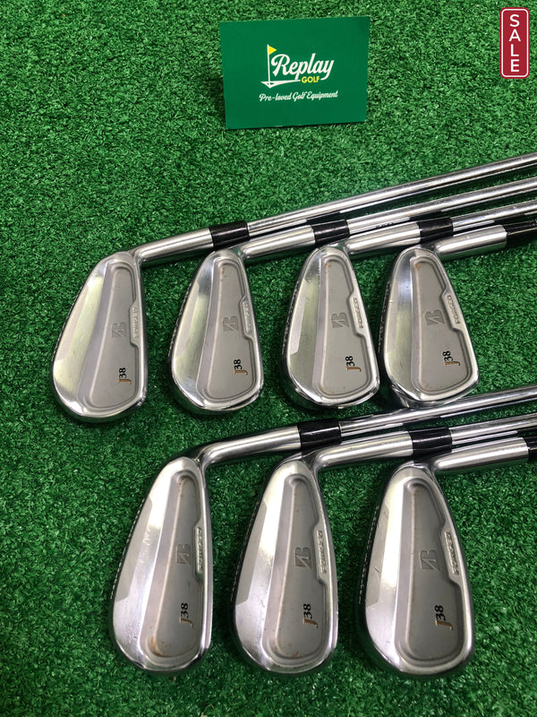 Bridgestone J38 Irons Set / 4-PW / KBS Tour V Stiff Flex - Replay Golf