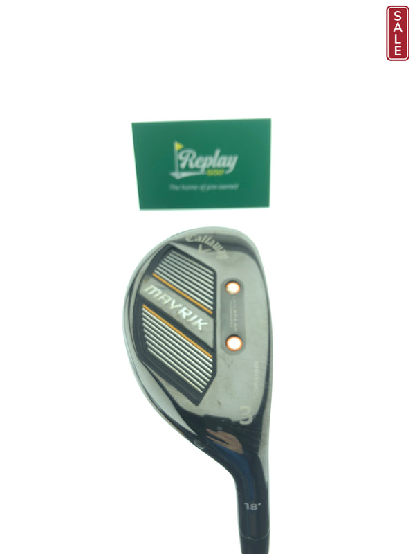 TOUR ISSUE Callaway Mavrik 3 Hybrid / 18 Degree / Aldila Phenom TX Flex - Replay Golf