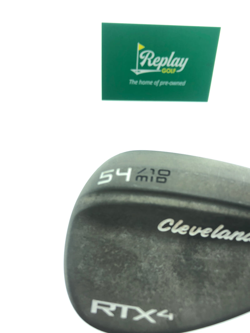 Cleveland RTX 4 Tour Raw Sand Wedge / 54 Degree / DG Tour Issue S400 Stiff Flex - Replay Golf