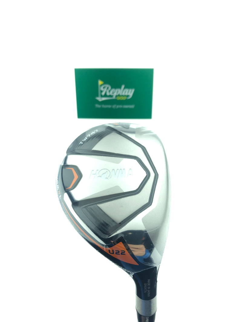 NEW Honma TW747 Utility 4 Hybrid / 22 Degrees / Vizard UT-H7 Stiff Flex - Replay Golf
