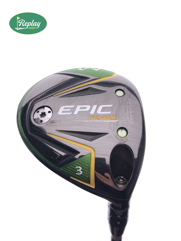 Callaway EPIC Flash 3 Wood / 15 Degrees / Project X EvenFlow 4.0 Ladies Flex - Replay Golf