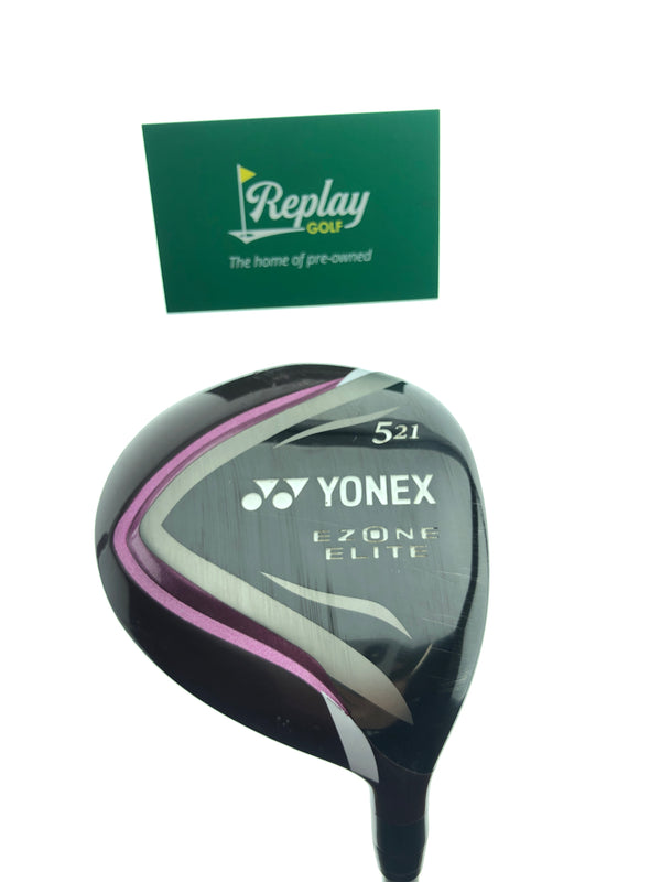 Yonex Ladies Ezone Elite 5 Fairway Wood / 21 Degrees / Yonex L50 Ladies Flex - Replay Golf