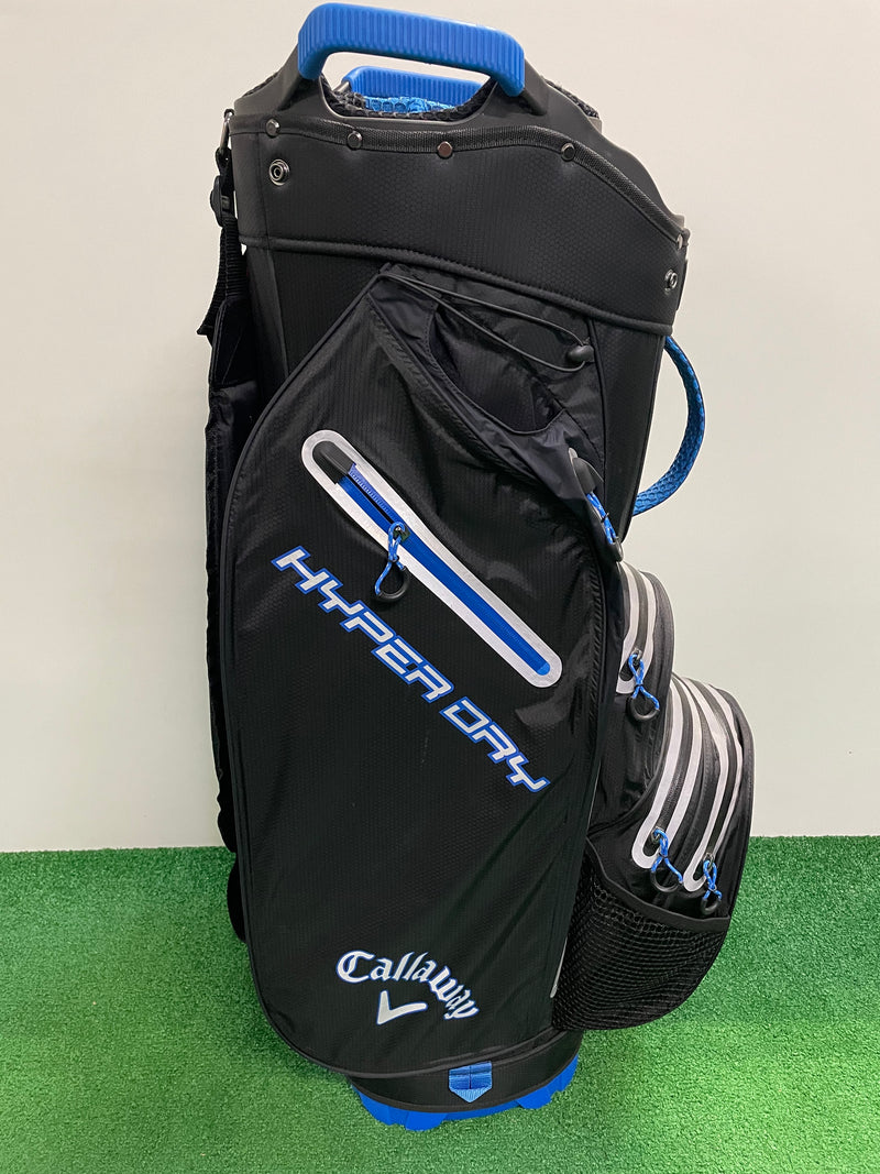 NEW Callaway Hyper Dry Cart Bag 19' Black & Royal Blue - Replay Golf