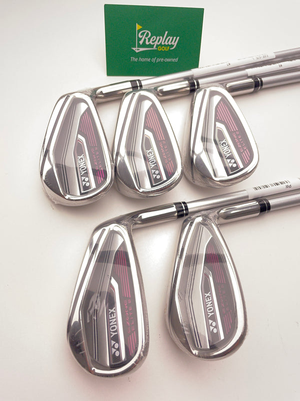 NEW Yonex Ezone Elite 2 Iron Set / 7 - SW / L50 EL Ladies Flex - Replay Golf