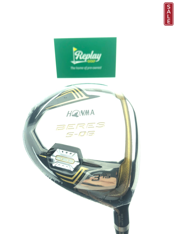 NEW Honma Beres S-06 2 Star 3 Wood / 15 Degrees / Honma Armrq X 47 Regular - Replay Golf