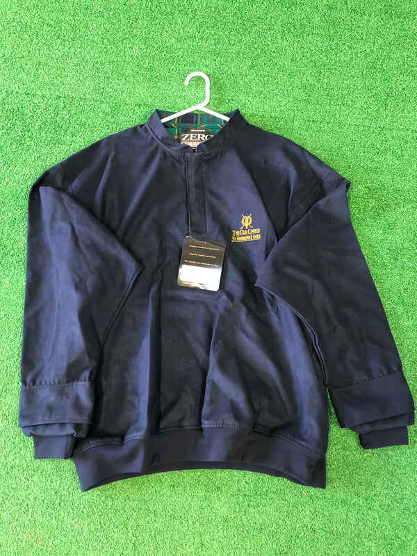 Zero Restriction Microsuede Mens Wind Shirt / The Old Course St Andrews Links - Replay Golf