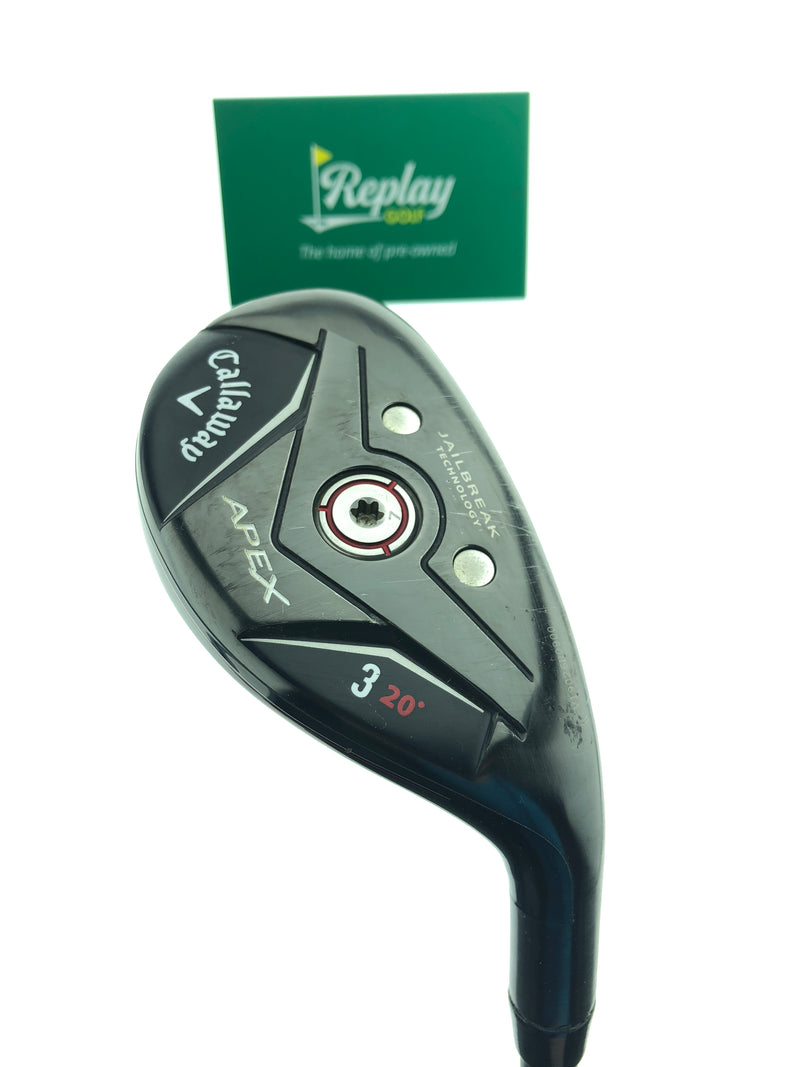Callaway Apex 19 3 Hybrid / 20 Degrees / KBS Hybrid 80 Stiff Flex - Replay Golf
