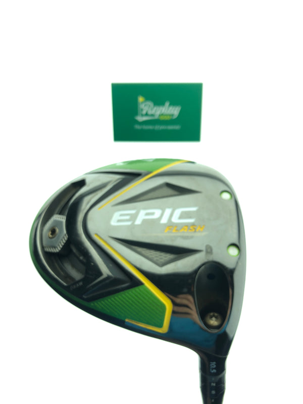 Callaway EPIC Flash Driver / 10.5 Degrees / Even Flow Green 5.5 Regular Flex - Replay Golf