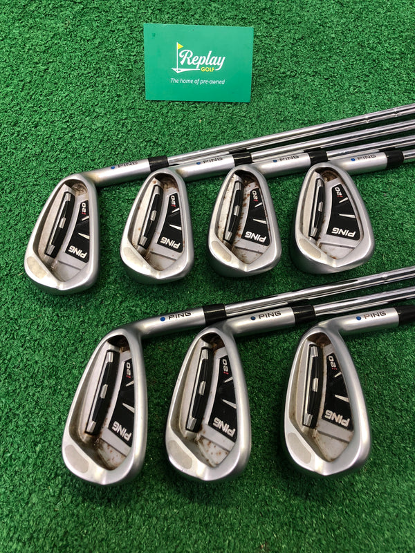 Ping I20 Iron Set / 5-SW / Ping CFS Stiff Flex / Blue Dot