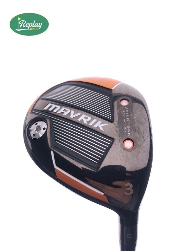 Callaway Mavrik 3 Fairway Wood / 15 Degrees / Aldila Rogue 130 MSI 70 Stiff Flex