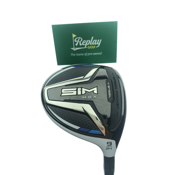TaylorMade Ladies SIM Max 9  Wood / 24 Degrees / Aldila NV 45 Ladies Flex - Replay Golf