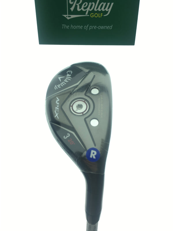NEW Callaway Apex 19 3 Hybrid / 20 Degrees / Project X Catalyst 5.5 70 Regular - Replay Golf