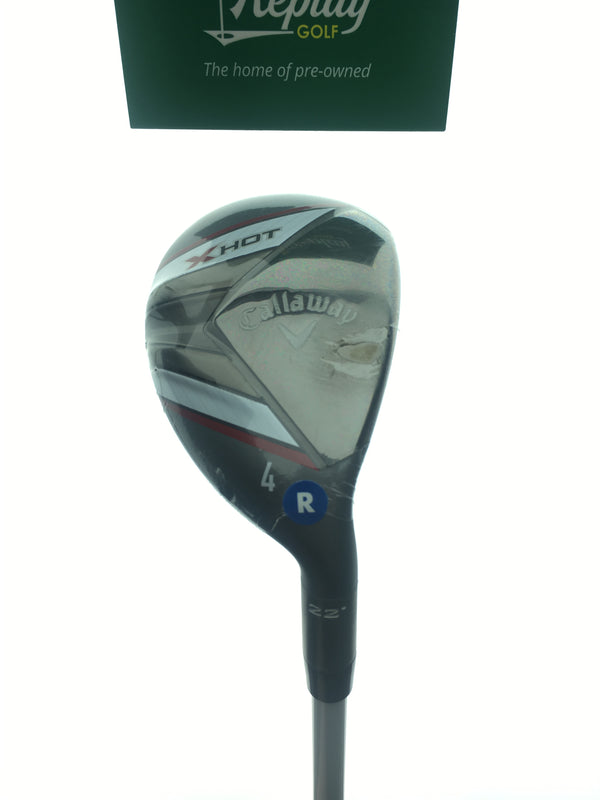 NEW Callaway X Hot 19 4 Hybrid / 22 Degrees / Project X PXV Regular Flex - Replay Golf
