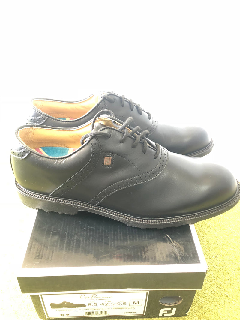 Footjoy Club Professional Spikeless Golf Shoes / Black / UK 8.5 M / New-Replay Golf