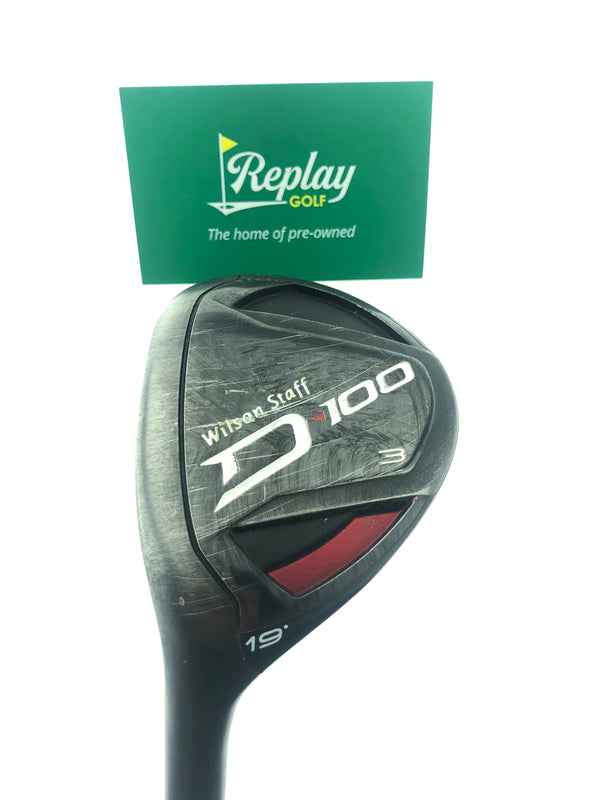 Wilson D100 3 Hybrid / 19 Degrees / Matrix Ozik Regular LEFT Hand Flex - Replay Golf