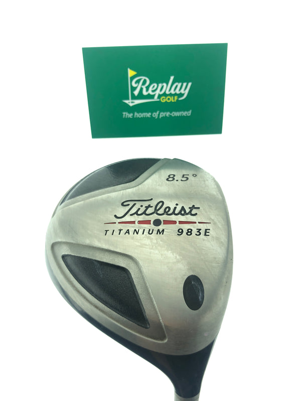 Titleist 983E Driver / 8.5 Degrees / Fujikura Speeder  Stiff Flex - Replay Golf