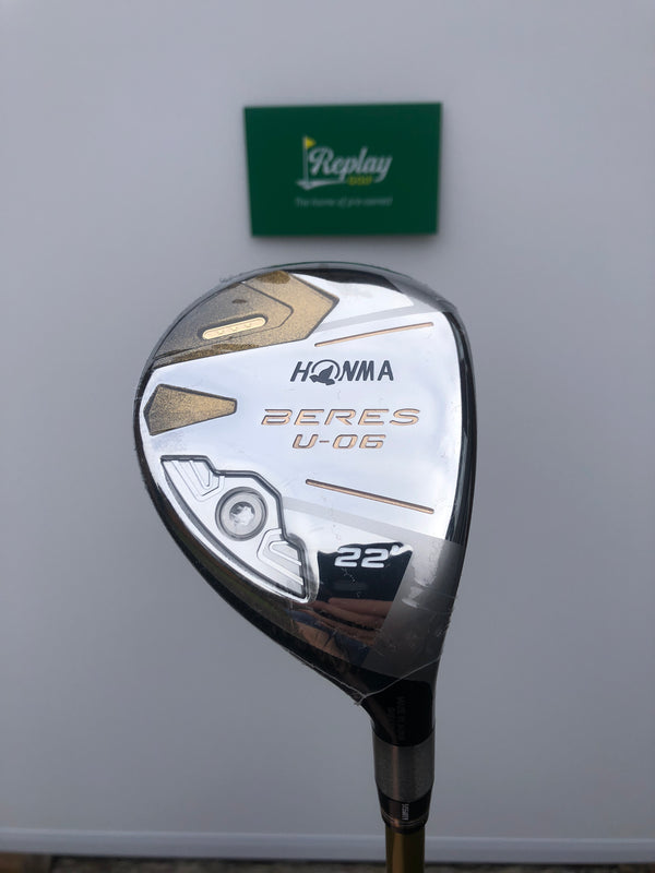 NEW Honma Beres U-06 3 Star 4 Hybrid / 22 Degrees / Armrq 47 Regular Flex