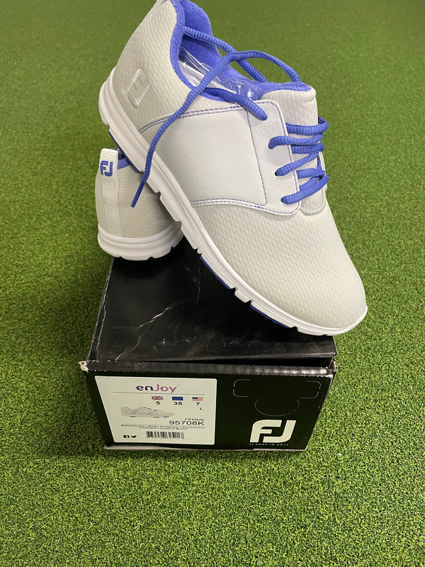 EX Shop Display Footjoy Ladies enJoy Golf Shoes 95708K / Light Grey / Size UK 5 W