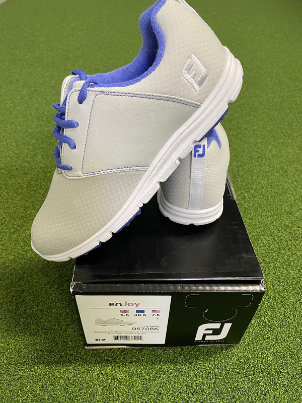 EX Shop Display Footjoy Ladies enJoy Golf Shoes 95708K / Light Grey / Size UK 5.5