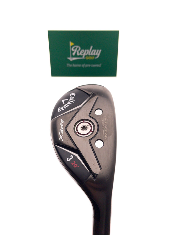 Callaway Apex 19 3 Hybrid / 20 Degrees / Project X Catalyst 70 HY 6.0 Stiff Flex - Replay Golf