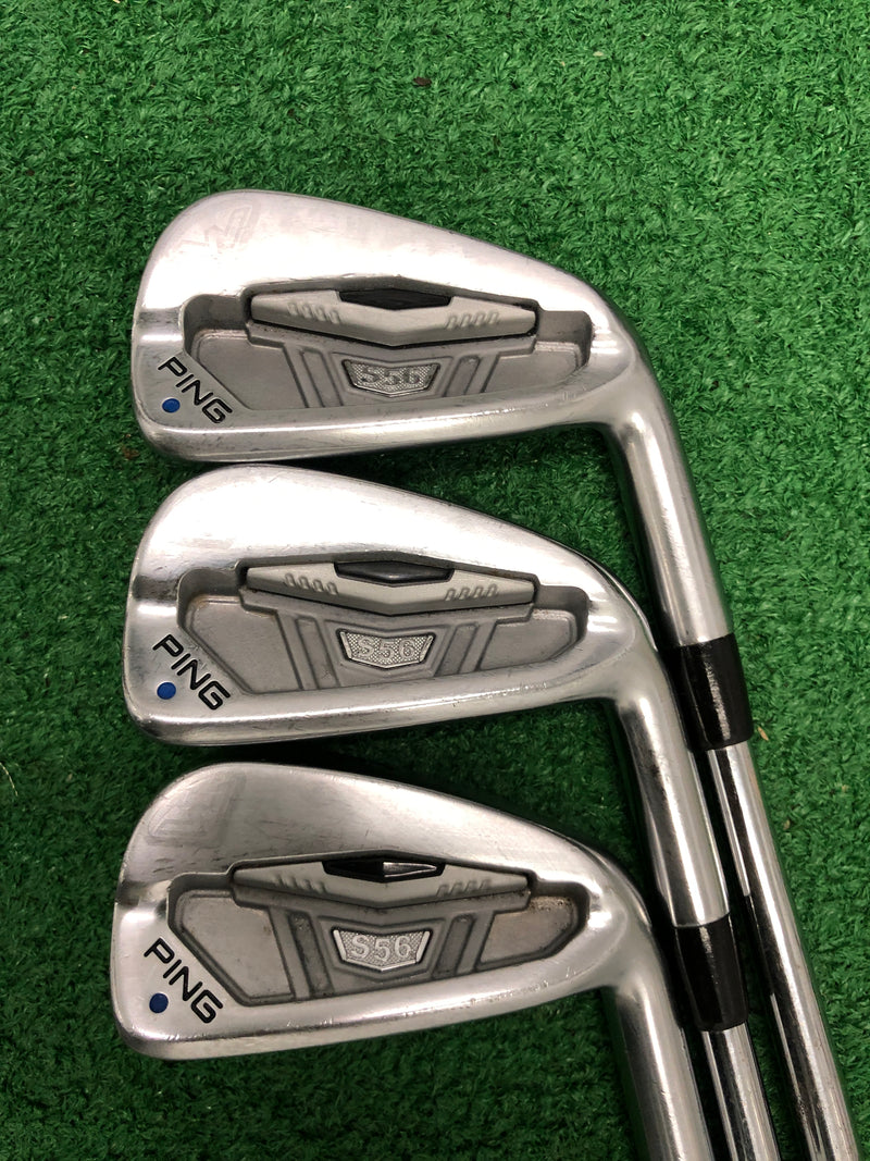 Ping S56 Iron Set / 4-9 Iron / Blue Dot / Dynamic Gold SL X100 X-Flex - Replay Golf