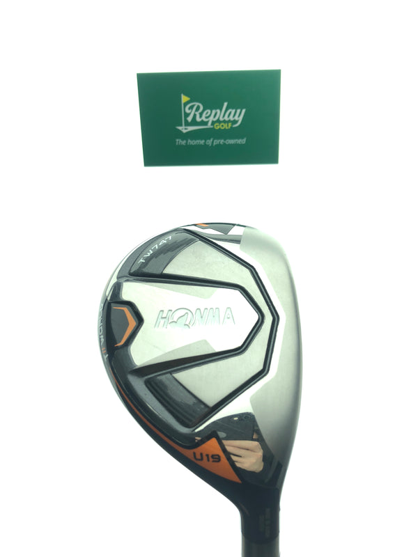Honma TW747 Utility 3 Hybrid / 19 Degrees / VIZARD UT-H8 - Replay Golf